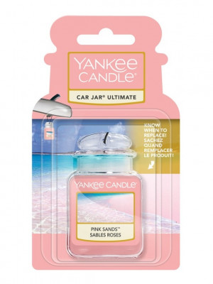 Yankee Candle PINK SANDS gelová visačka do auta 1 ks
