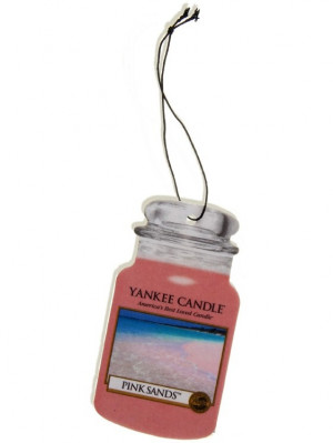 Yankee Candle PINK SANDS papírová visačka do auta NEW 1 ks