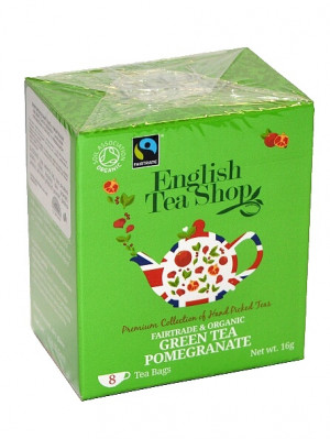 English Tea Shop BIO čaj 8 sáčků GREEN TEA POMEGRANATE