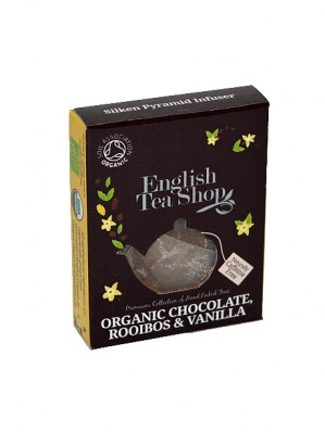 English Tea Shop BIO čaj 1x pyramidka CHOCOLATE ROOIBOS AND VANILLA