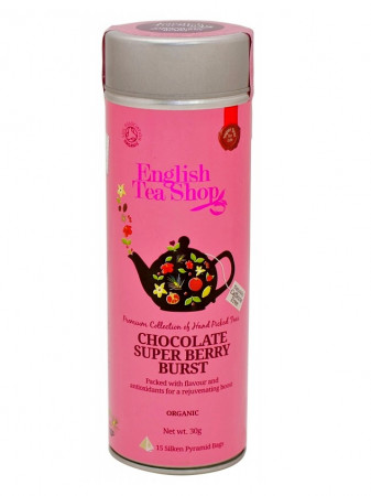 detail English Tea Shop 15 pyramidek CHOCOLATE SUPER BERRY BURST 30 g