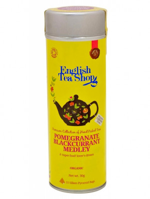 English Tea Shop 15 pyramidek POMEGRANATE BLACKCURRANT MEDLEY 30 g