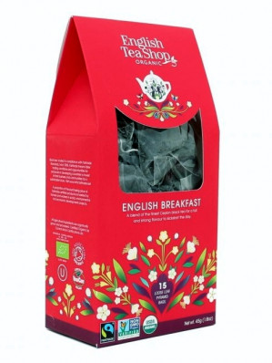 English Tea Shop BIO čaj 15 pyramidek ENGLISH BREAKFEAST 45 g