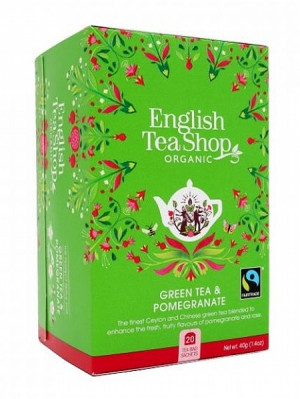 English Tea Shop Mandala - GREEN TEA & POMEGRANATE, 20 sáčků, 40 g