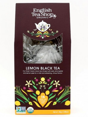 English Tea Shop BIO čaj 15 pyramidek LEMON BLACK TEA