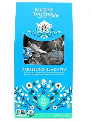 English Tea Shop BIO čaj 15 pyramidek DARJEELING BLACK TEA