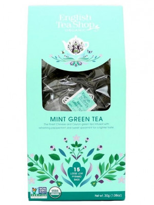 English Tea Shop BIO čaj 15 pyramidek MINT GREEN TEA