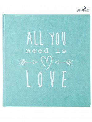Fotoalbum klasické 30x31cm Goldbuch 27083 ALL YOU NEED IS LOVE tyrkysové