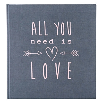 Fotoalbum klasické 30x31cm Goldbuch 27085 ALL YOU NEED IS LOVE šedé