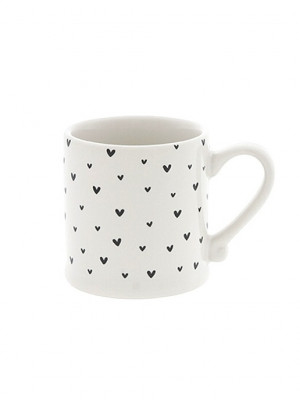 Bastion Collections Hrneček Espresso LITTLE HEARTS in black, 70 ml