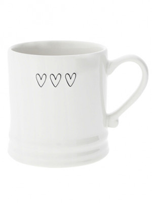 Bastion Collections Hrnek 3HEARTS in black 220ml (RJ-MUG-001-BL)