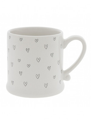Bastion Collections Hrneček HEARTS OVERALL in grey, 220 ml