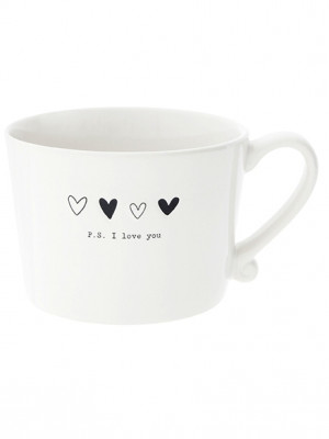 Bastion Collections Hrnek P.S.I LOVE YOU in black 300ml (RJ/CUP 026 BL)
