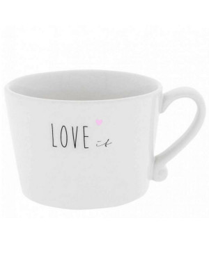 Bastion Collections Hrnek LOVE IT heart in rose 300ml (RJ/CUP 008 BL)
