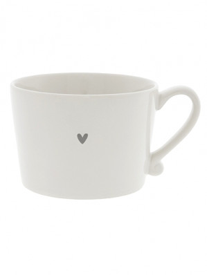 Bastion Collections Hrnek LITTLE HEART in grey, 300 ml