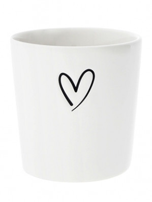 Bastion Collections Kelímek HEART in black 300 ml (RJ/CUP 301 BL)