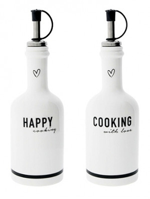 Bastion Collections HAPPY COOKING in black 6,5x16cm / 2ks