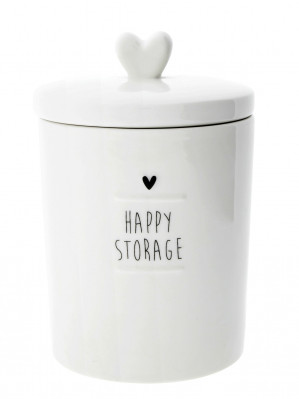 Bastion Collections Dóza HAPPY STORAGE in black (LI/JARS SM 005 BL)