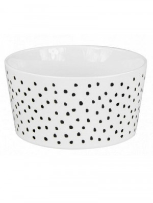 Bastion Collections Miska DOTS in black 13,5x7cm (RJ/BO WH/DOTS BL)