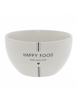 Bastion Collections Miska HAPPY FOOD in black 12,5x7,4cm