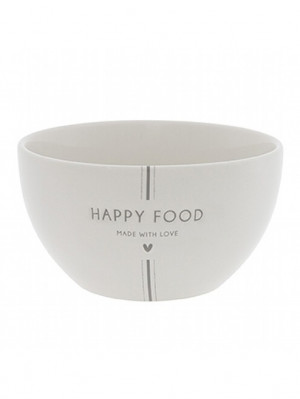 Bastion Collections Miska HAPPY FOOD in grey 12,5x7,4cm