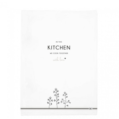 Bastion Collections Utěrka KITCHEN in white 50x70cm