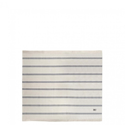 Bastion Collections UBROUSEK naturel stripe little heart, 50x50cm