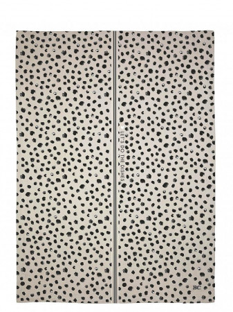 detail Bastion Collections Utěrka HAPPY DOTS in naturel/black, 50x70cm