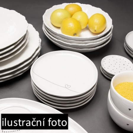 detail Bastion Collections Dezertní talíř BREAKFAST PLATE white, 23 cm