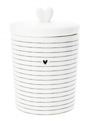 Bastion Collections Dóza STRIPES, HEART in black NEW / 1ks