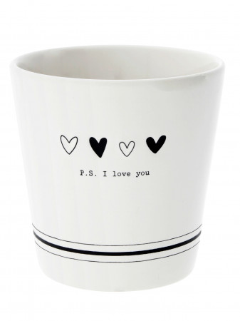 detail Bastion Collections Kelímek PS I LOVE YOU in black (RJ/CUP 305 BL)