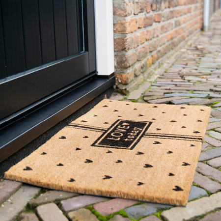 detail Bastion Collections Rohožka Doormat LOVE TODAY, 35x75 cm