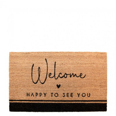 Bastion Collections Rohožka Doormat HAPPY TO SEE YOU, 35x75 cm