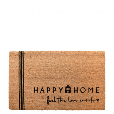 Bastion Collections Rohožka Doormat HAPPY HOME, 35x75 cm