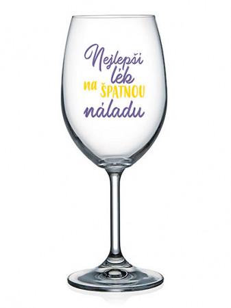 detail Nekupto Sklenice na víno 440ml - NEJLEPŠÍ LÉK NA ŠPATNOU NÁLADU